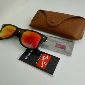 Ray-Ban Wayfarer Ease Tortoise Sunglasses Case NWT